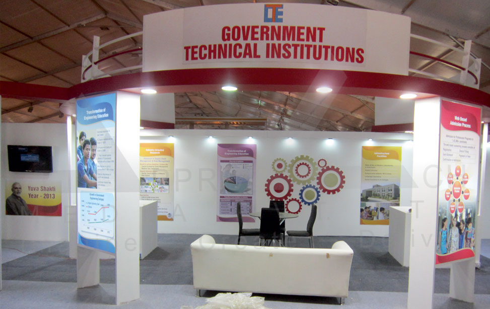 Exhibition Stall Names : Exhibition government stall fabricator