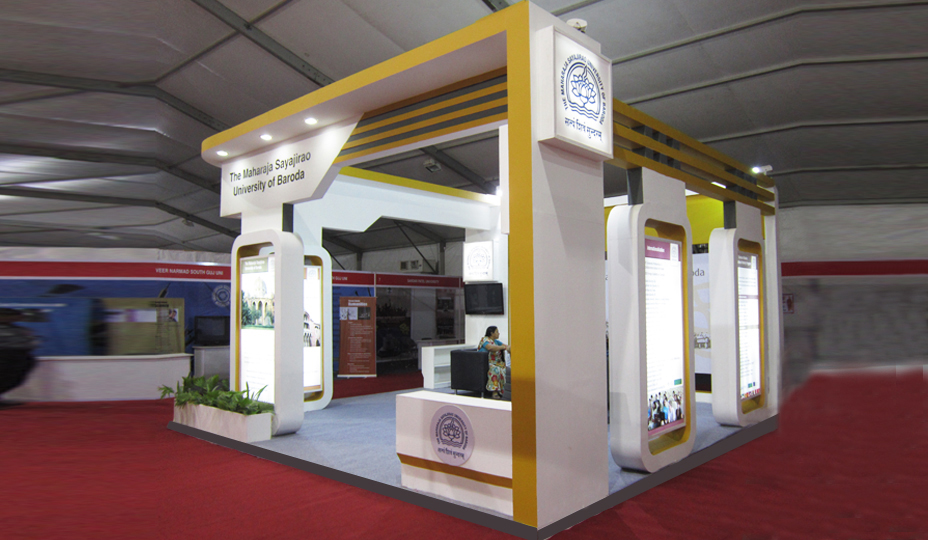 Simple Exhibition Stall : Stall designers in mumbai exhibtion booth design