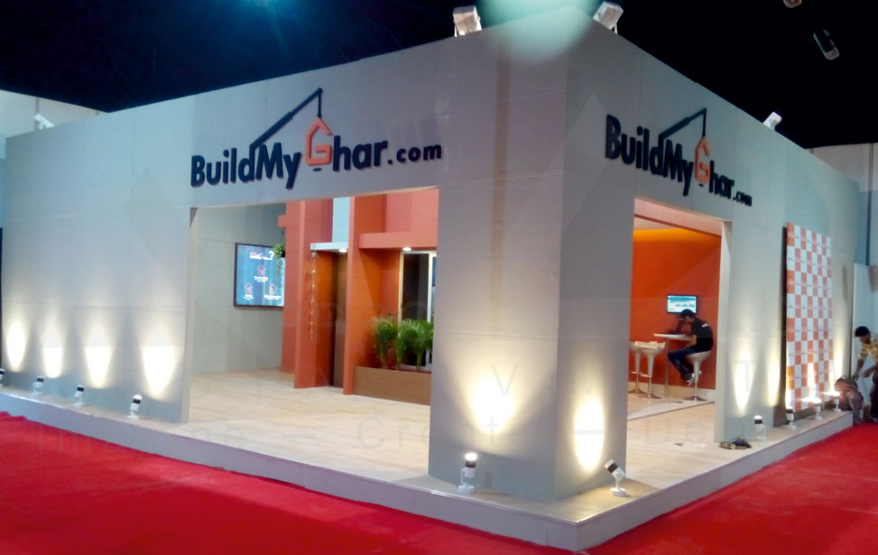 Real Estate Exhibition Stall : Exhibtion stall design real estate delhi