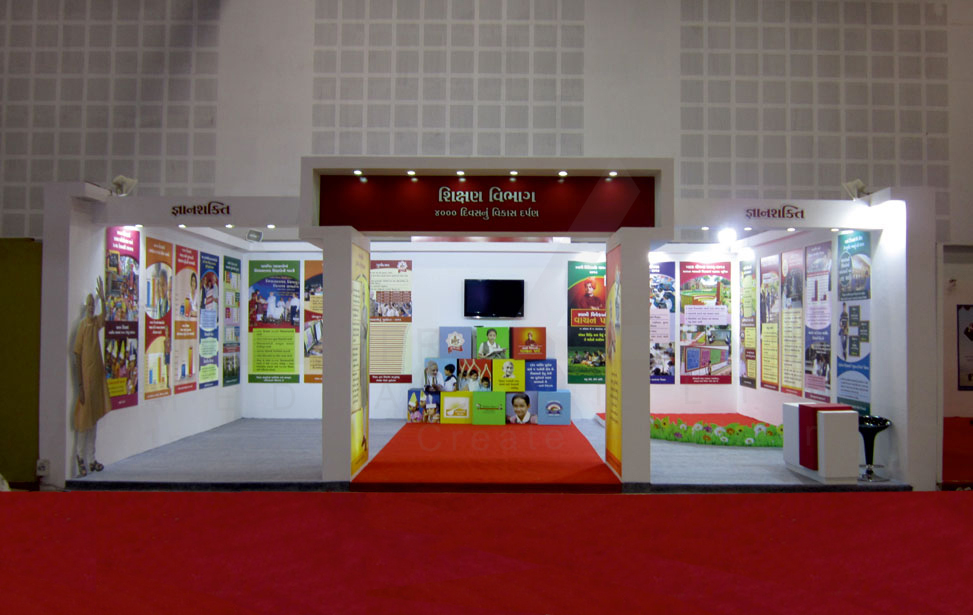 Education Exhibition Stall : Exhibition stall design education government