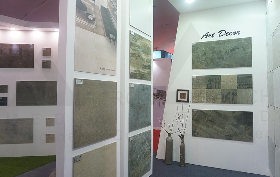 Ceramic Exhibition Stall : Exhibition stall design vibrant ceramic