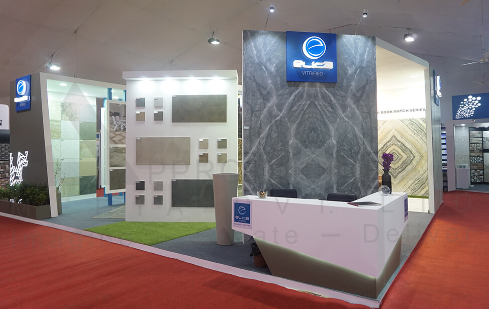 Exhibition Booth Fabrication : Exhibition stall design vibrant ceramic exhibition stall fabricator