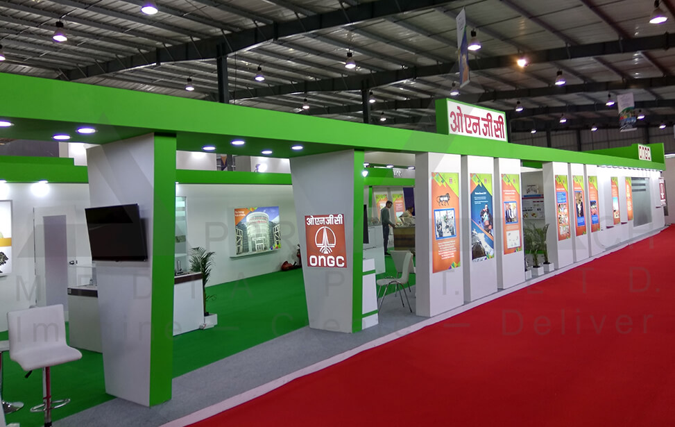 Simple Exhibition Stall : Exhibition booth designer ahmedabad
